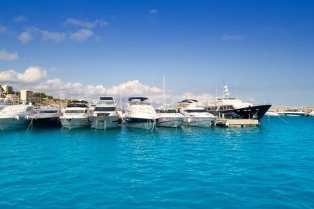 portals: Calvia Puerto Portals Nous luxury yachts in Mallorca Balearic island from Spain