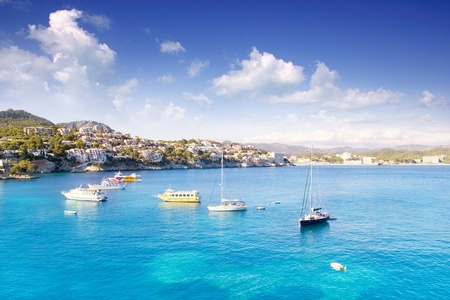 Calvia Cala Fornells Majorque en Méditerranée Majorque Banque d'images
