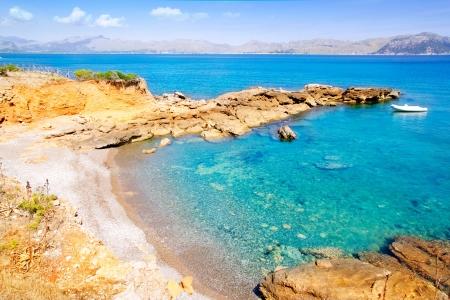 Alcudia in Mallorca la Victoria turquoise beach near s Illot from Balearic Islands Stock Photo - 10641807