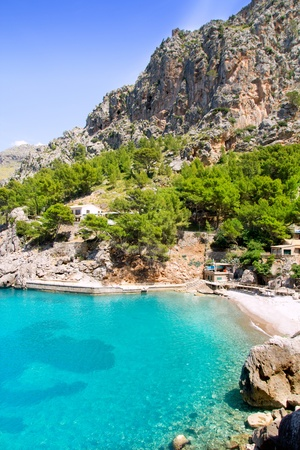 majorca: Escorca Sa Calobra beach in Mallorca balearic island from Spain