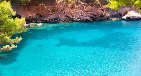 Escorca Sa Calobra beach in Mallorca balearic island from Spain photo