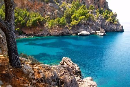 Escorca Sa Calobra beach in Mallorca balearic island from Spain Stock Photo - 10637434