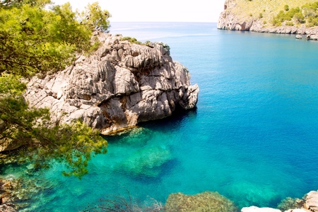 Escorca Sa Calobra beach in Mallorca balearic island from Spain Stock Photo - 10641911