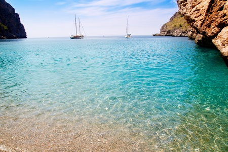 Escorca Sa Calobra beach in Mallorca balearic islands Torrent de Parlos photo