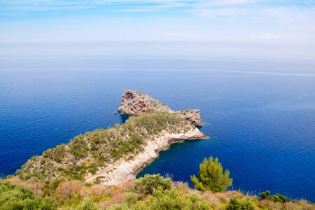 Deia Sa Foradada in mediterranean Majorca view from Can Marroig photo