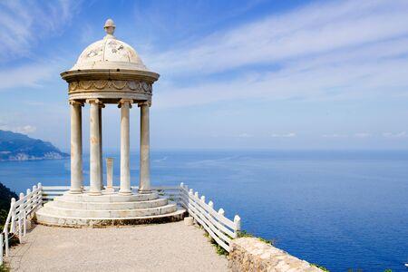 es Galliner mirador in Son Marroig over Mediterranean Majorca sea photo