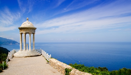 es Galliner mirador in Son Marroig over Mediterranean Majorca sea photo