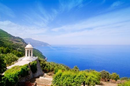 mirador: es Galliner mirador in Son Marroig over Mediterranean Majorca sea