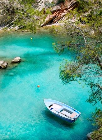 Calvia Cala Fornells turquoise mediterranean in Majorca at balearic islands of Spain photo
