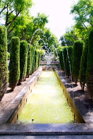 fontaine: Jardin des rei garden fontaine in Palma de Mallorca in Balearic Islands Stock Photo