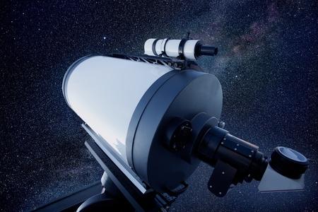 astronomical observatory telescope stars night sky photo