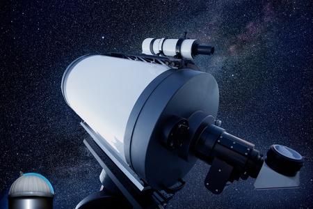 osservatorio astronomico telescopio stelle cielo notturno Archivio Fotografico