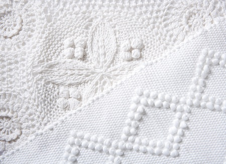 cotton dress: cotton tricot pique white fabric macro texture background Stock Photo