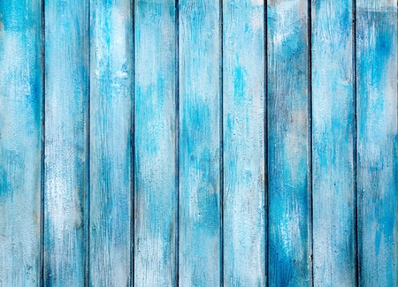 old wood floor: aged blue painted grunge wood texture background