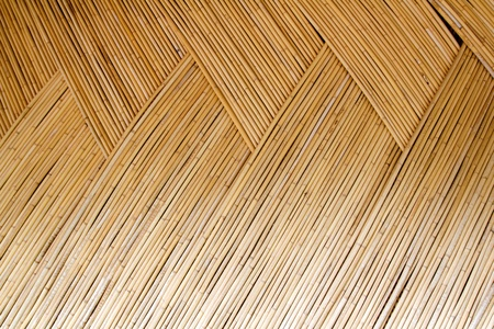dried cane pattern interlaced texture for traditional asian hut photo