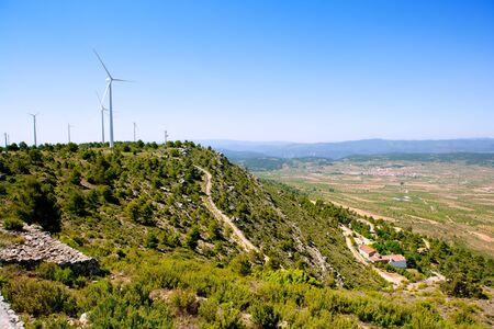 aras: Aras de los Olmos valley with winmills in Valencia province Spain