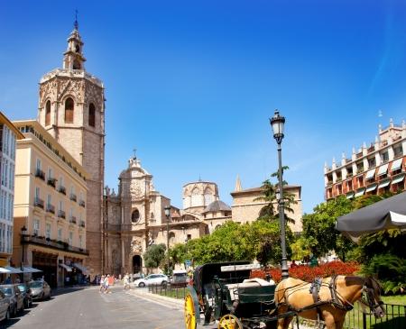 valencia: Valencia El Miguelete Micalet cathedral in Reina Square