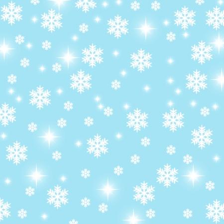 snoflake: christmas snowflake and stars illustration background Stock Photo
