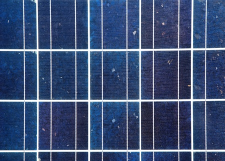 photovoltaic power station: blue solar energy plate detail fro green electric supply