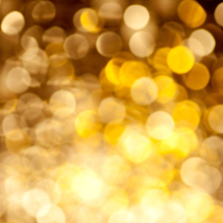 Abstract golden blurred lights christmas background photo