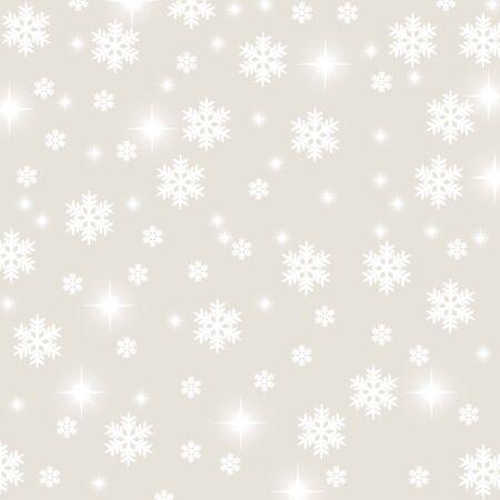christmas snowflake and stars illustration background illustration