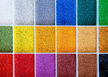 colorful designer architect sample of color stones for flooring and facade photo