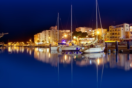 ibiza: San Antonio de Portmany night port view in Ibiza island