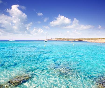 isla: Cala Conta in Ibiza island near San Antonio de Portmany