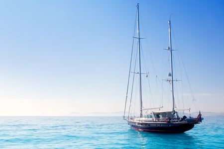anchored sailboats in turquoise Formentera Illetes beach near Ibiza Stock Photo - 11057901