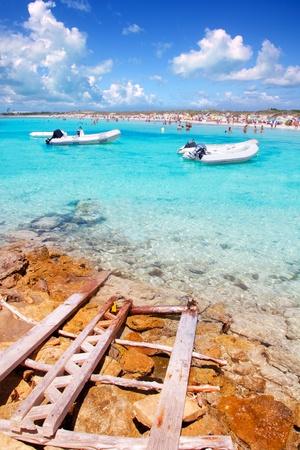 formentera: Illetes beach in Formentera island in summer vacation