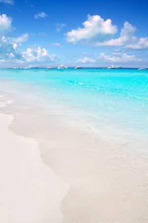 formentera: Illetes Formentera East tanga beach with tropical turquoise Mediterranean sea Stock Photo