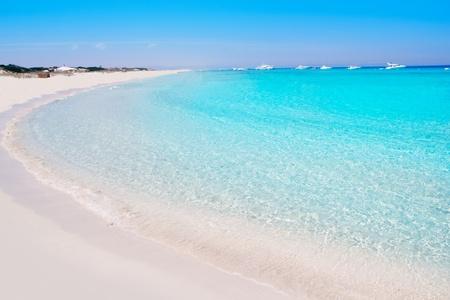 tanga: Illetes Formentera East beach tanga con tropicali turchese Mar Mediterraneo