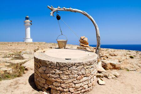 draw well: Draw well traditional mediterranean masonry in balearic islands