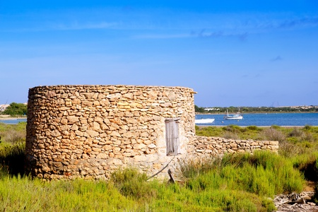 Masonry round haven in formentera Estany des Peix Stock Photo - 11199376