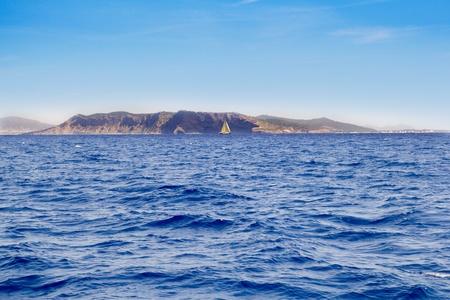 els: Els Freus of Ibiza view from Mediterranean sea in Balearic Islands