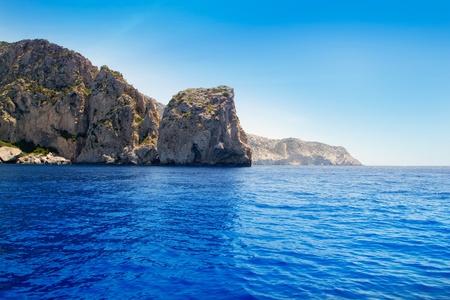 vedra: Ibiza Cap de Jueus near Es Vedra in Balearic Mediterranean sea Stock Photo