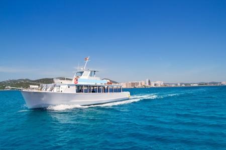 Ibiza boats in San Antonio de Portmany bay at Balearic islands photo