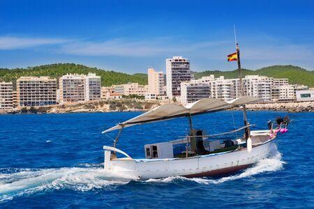 antonio: Ibiza boats in San Antonio de Portmany bay at Balearic islands