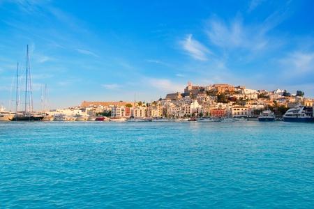 Ibiza Eivissa town with blue Mediterranean sea city view Stock Photo - 11200006