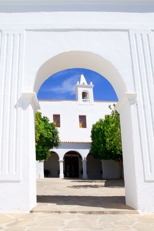 sant: Ibiza Sant Miquel de Balansat white church Mediterranean architecture