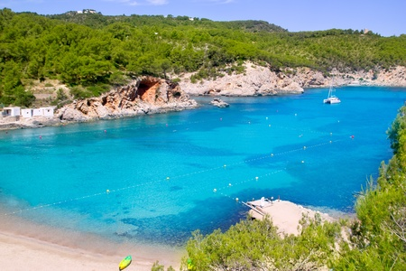 ibiza: Ibiza Port de San Miquel San Miguel beach with turquoise water