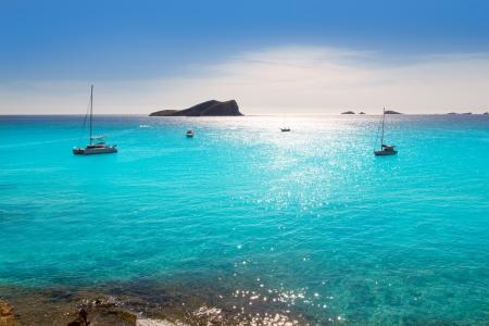Ibiza Cala Conta Conmte in San Antonio turquoise zonsondergang