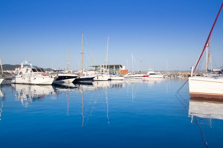 Ibiza San Antonio Abad port in blue mediterranean day photo