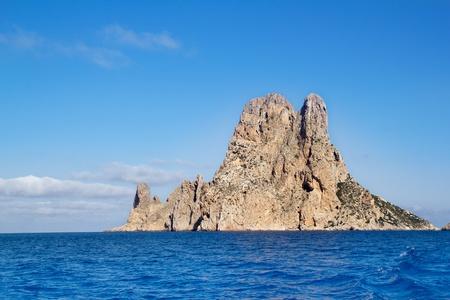 islet: Es Vedra islet island in blue Mediterranean Spain