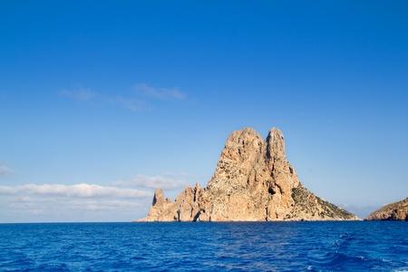 Es Vedra islet island in blue Mediterranean Spain Stock Photo - 11201721