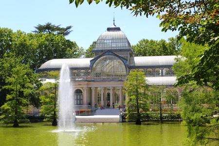 palacio: Madrid Palacio de Cristal in Retiro Park glass crystal palace Spain