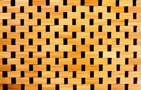 panelling: bamboo cane wood texture background from tablecloth
