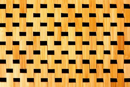 japanese culture: bamboo cane wood texture background from tablecloth