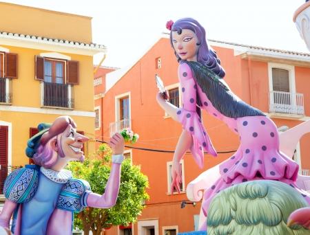 fiesta popular: Fallas fest figures on Valencia province streets