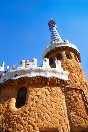 guell: Barcelona Park Guell Gingerbread House of Gaudi modernism fairy tale